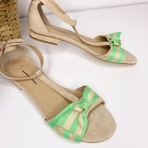 Anthropologie Elenore T-Strap Sandals